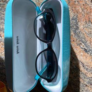 Kate Spade small cat eye sunglasses in aqua green
